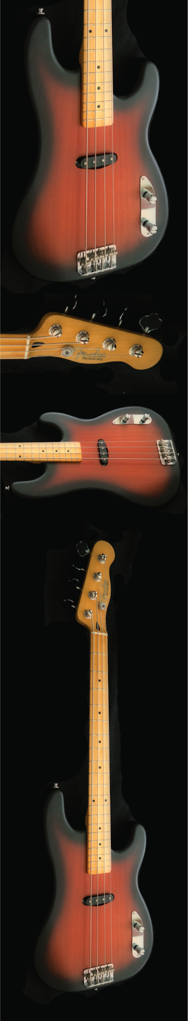 Fender 1954 precision i had fallen in love with the contoured body of the 1954 precision basses and using the one pictured above as my guide i built my own maxwellsz